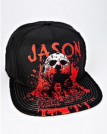 Bloody Jason Voorhees Snapback Hat - Friday The 13th