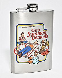 Let's Summon Demons Flask 8 oz. - Steven Rhodes
