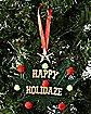 Plush Happy Holidaze Ornament