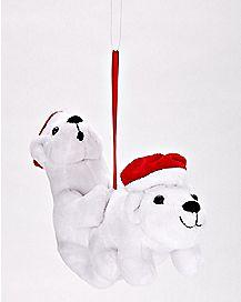 Plush Humping Polar Bears Ornament