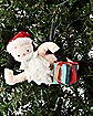 Plush Naughty Santa Ornament With Sound