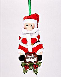 Santa's Shitlist Plush Ornament