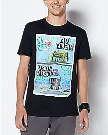 My Music Your Music Meme Spongebob T Shirt - Nickelodeon