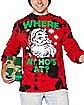 Where My Ho's At Santa Long Sleeve T Shirt