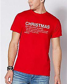 Christmas Definition T Shirt