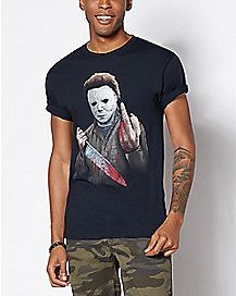 Middle Finger Michael Myers T Shirt - Halloween