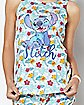 Floral Stitch Tank Top and Shorts - Disney