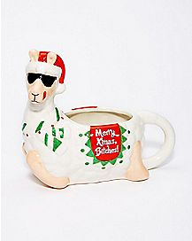 Merry Christmas Bitches Llama Mug