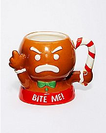 Bite Me Gingerbread Man Coffee Mug - 16 oz.