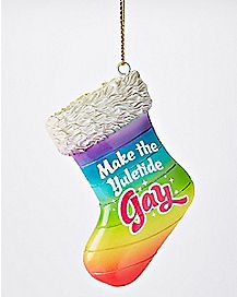 Make The Yuletide Gay Stocking Christmas Ornament
