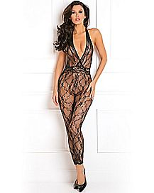 Patterned Lace Bodystocking