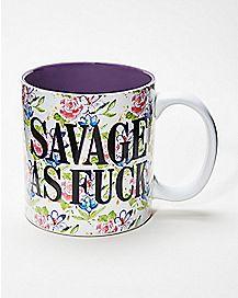 Floral Savage As Fuck Coffee Mug - 20 oz.