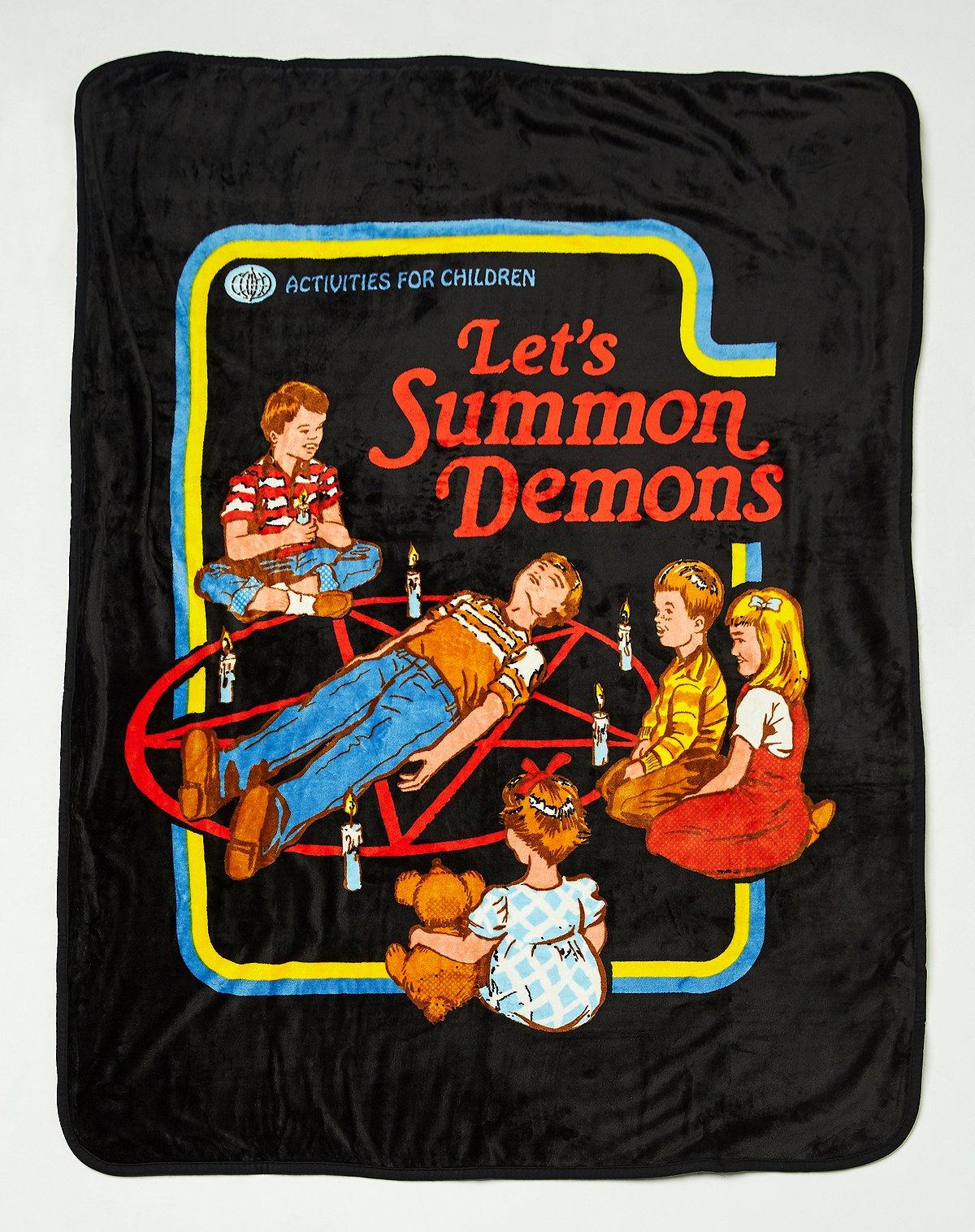 steven rhodes let's summon demons fleece blanket