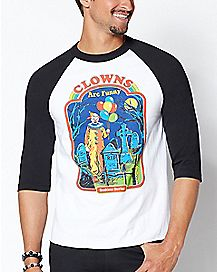 Raglan Clowns Are Funny T Shirt - Steven Rhodes