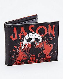 Blood Splatter Jason Voorhees Bifold Wallet - Friday the 13th