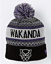 Wakanda Black Panther Pom Beanie Hat - Marvel