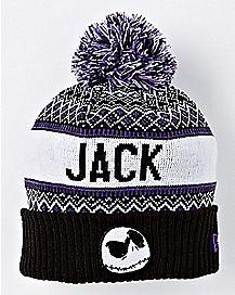 Jack Skellington Pom Beanie Hat - The Nightmare Before Christmas