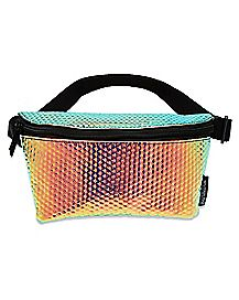 Textured Iridescent Fanny Pack