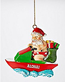 Aloha Santa Christmas Ornament