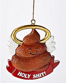 Holy Shit Christmas Ornament