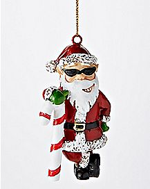Sunglasses Santa Christmas Ornament