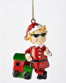 Cool Elf Christmas Ornament