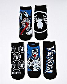 Multi-Pack Venom No Show Socks 5 Pack - Marvel