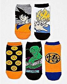Dragon Ball Z No Show Socks - 5 Pack