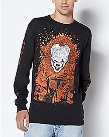 Long Sleeve Pennywise T Shirt - It