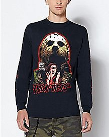 Jason Voorhees Long Sleeve T Shirt - Friday The 13th