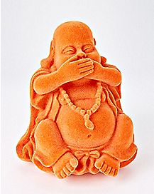 Flocked Buddha Figurine