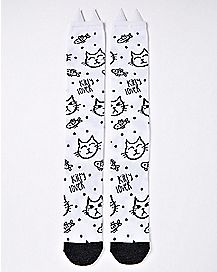 Kitty Lover Cat Ears Knee High Socks