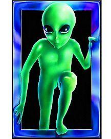 Alien Black Light Poster