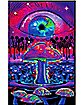 Mushroom Black Light Poster