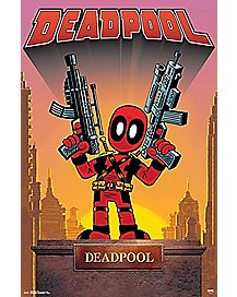 Statue Deadpool Poster - Marvel