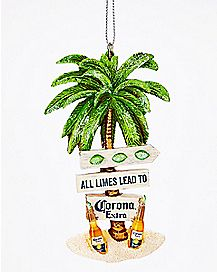 Palm Tree Corona Ornament