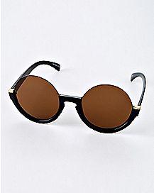 Half Rim Round Sunglasses