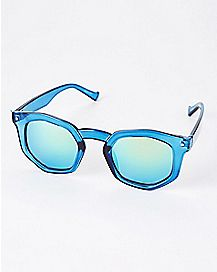 Blue Octagon Sunglasses