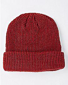 Red Cuff Beanie Hat