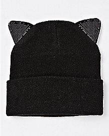 Sequin Cat Ear Beanie