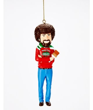 Bob Ross Christmas Ornament