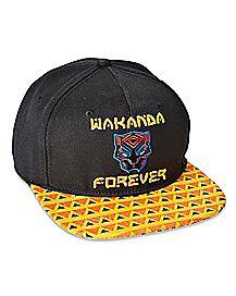 Wakanda Forever Snapback Hat - Black Panther
