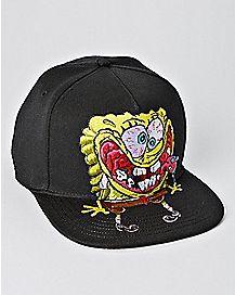 54c907b1d88 Crazy Spongebob Snapback Hat - Nickelodeon