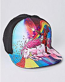 Rainbow Unicorn Deadpool Snapback Hat - Marvel