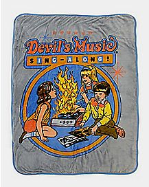 Devil's Music Sing-Along Sherpa Fleece Blanket - Steven Rhodes