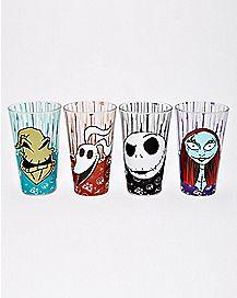 The Nightmare Before Christmas Pint Glasses 16 oz. 4 Pack - Disney