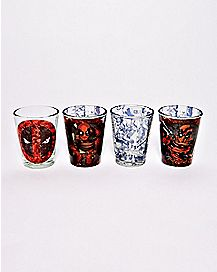 Deadpool Shot Glasses 4 Pack - 1.5 oz.