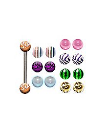 Multi-Pack Barbell with Extra Balls - 14 Gauge