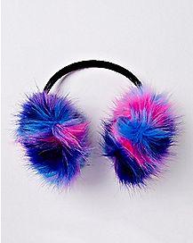 Faux Fur Striped Earmuffs