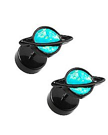 Opal-Effect Saturn Fake Plugs - 18 Gauge